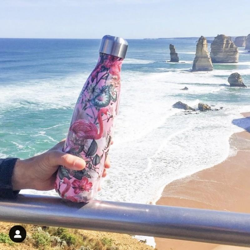 Chilly's Bottle Thermosfles Flamingo voor warm en koud