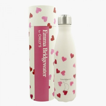 Chilly's Bottle Thermosfles Pink Hearts voor warm en koud