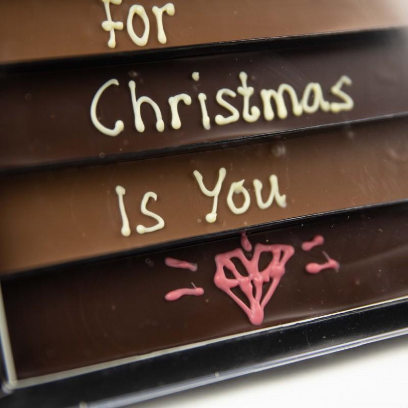Ambachtelijke chocolade kerst