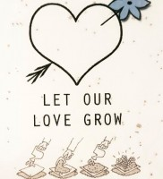 Wensdoosje met bloeiende 'Love Wishes'
